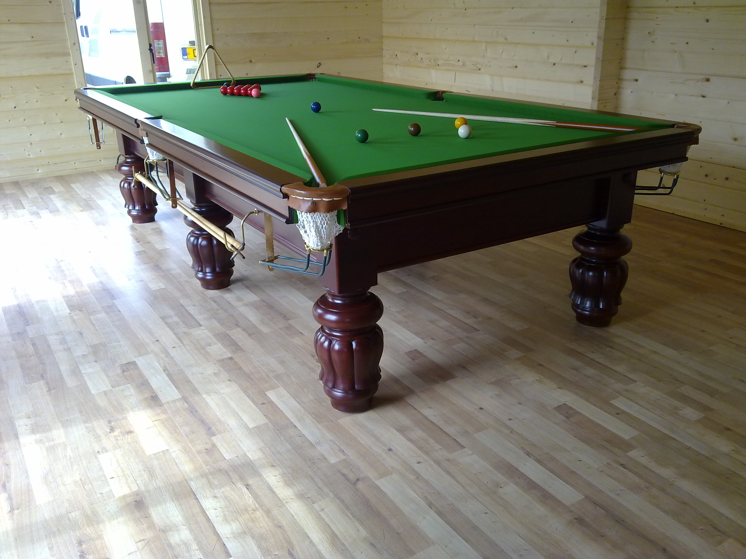10ft Victorian Snooker Table   Tulip Leg   Mahogany Installed August 3rd  2011