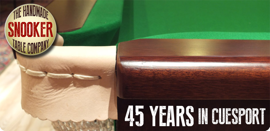 45 years in cuesport making fitting tables